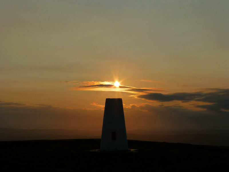 Sunset on Pendle